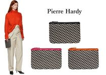 Pierre Hardy Unisex Blended Fabrics Leather PVC Clothing Clutches