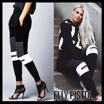 ELLY PISTOL Casual Style Street Style Cotton Medium