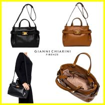 GIANNI CHIARINI Plain Leather Handbags