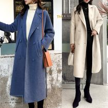 Plain Medium Office Style Elegant Style Chester Coats