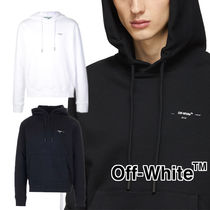 Off-White Pullovers Unisex Sweat Street Style Long Sleeves Plain
