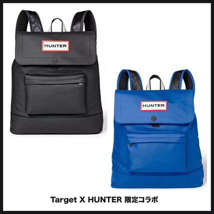 Unisex Street Style Collaboration Plain Backpacks