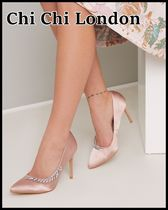 Chi Chi London Plain Pin Heels Party Style With Jewels Shoes