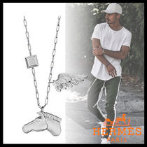 HERMES Street Style Plain Metal Necklaces & Chokers