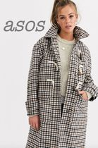 ASOS Other Check Patterns Casual Style Medium Duffle Coats