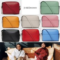 J & M Davidson Casual Style Plain Leather Elegant Style Shoulder Bags