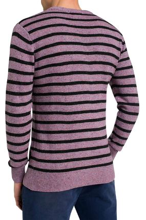 Scotch & Soda Knits & Sweaters Crew Neck Pullovers Stripes Wool Street Style Long Sleeves 3