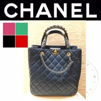 CHANEL MATELASSE Casual Style Blended Fabrics Street Style A4 2WAY Plain