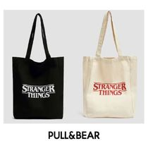 PULL & BEAR Casual Style Unisex Street Style Plain Totes