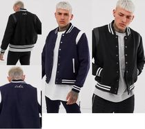 The Couture Club Blended Fabrics Street Style Varsity Jackets