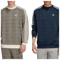 adidas Crew Neck Pullovers Stripes Tartan Other Check Patterns