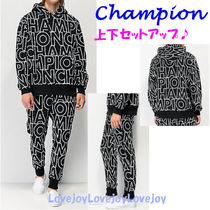 CHAMPION Blended Fabrics Street Style Top-bottom sets