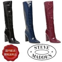 Steve Madden Plain Pin Heels Party Style Over-the-Knee Boots