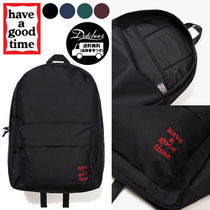 have a good time Casual Style Unisex Street Style Plain Backpacks