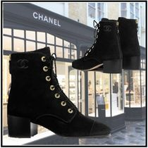 CHANEL 2019-20AW SHORT BOOTS black booties