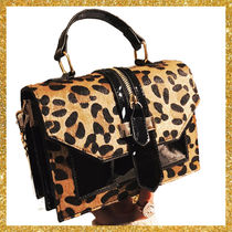Leopard Patterns Blended Fabrics 2WAY Chain Elegant Style