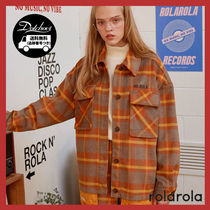 rolarola Other Check Patterns Casual Style Long Sleeves Medium