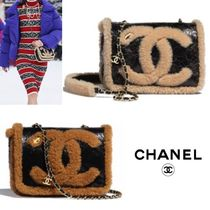 CHANEL Casual Style Blended Fabrics 2WAY Plain Party Style