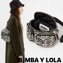 bimba & lola Casual Style Lambskin Other Animal Patterns Shoulder Bags