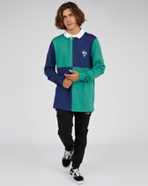 STUSSY Polos Pullovers Stripes Street Style Long Sleeves Cotton Polos 4
