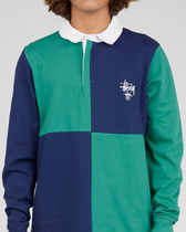 STUSSY Polos Pullovers Stripes Street Style Long Sleeves Cotton Polos 5