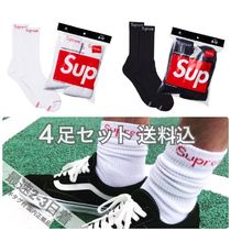 Supreme Unisex Street Style Socks & Tights