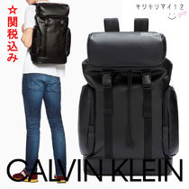 Calvin Klein CALVIN KLEIN JEANS Faux Fur Street Style A4 2WAY Plain Backpacks