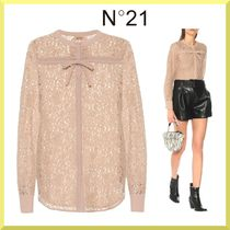 N21 numero ventuno Silk Long Sleeves Cotton Medium Lace Shirts & Blouses