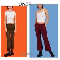 UNIF Clothing Other Check Patterns Casual Style Cotton