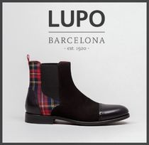 Lupo Barcelona Tartan Suede Leather Boots