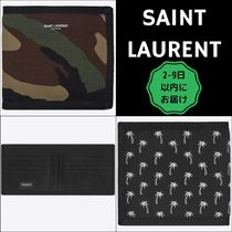 Saint Laurent Camouflage Tropical Patterns Unisex Canvas Nylon