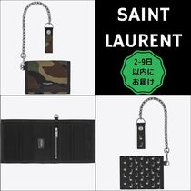 Saint Laurent Camouflage Tropical Patterns Unisex Canvas Nylon Chain