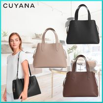 CUYANA Casual Style 2WAY Plain Leather Elegant Style Totes