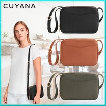CUYANA Casual Style Plain Leather Elegant Style Shoulder Bags