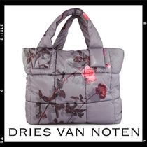 Dries Van Noten Flower Patterns Casual Style Totes