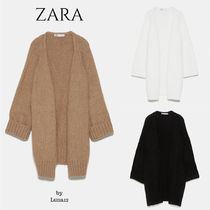 ZARA Casual Style Wool Rib Long Sleeves Plain Long Elegant Style