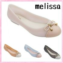 Melissa Plain Toe Round Toe Casual Style Bi-color Party Style