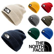 THE NORTH FACE Unisex Street Style Khaki Knit Hats