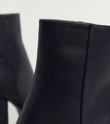 ASOS Ankle & Booties Casual Style Faux Fur Block Heels Ankle & Booties Boots 3