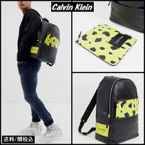 Calvin Klein Leopard Patterns Faux Fur Backpacks