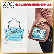 ZAC ZAC POSEN Studded Bag in Bag 2WAY Crystal Clear Bags Elegant Style