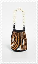 Rachel Comey Chain Other Animal Patterns Elegant Style Shoulder Bags
