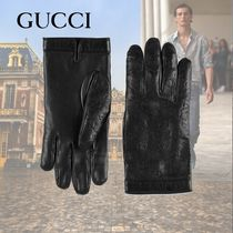 GUCCI Leather Leather & Faux Leather Gloves