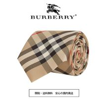 Burberry Other Check Patterns Silk Plain Ties