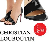 Christian Louboutin Open Toe Plain Leather Party Style Office Style