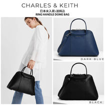 Charles&Keith Faux Fur 2WAY Plain Office Style Elegant Style Handbags