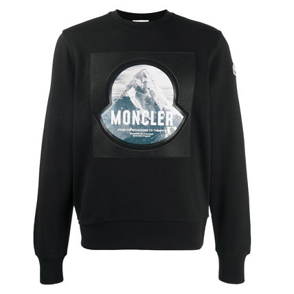MONCLER Sweatshirts Long Sleeves Cotton Logo Sweatshirts 2