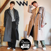 WV PROJECT Other Check Patterns Unisex Street Style Plain Long