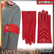 GUCCI GG Marmont Cashmere Blended Fabrics Plain Leather