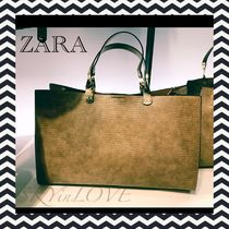 ZARA Casual Style A4 Other Animal Patterns Office Style Totes